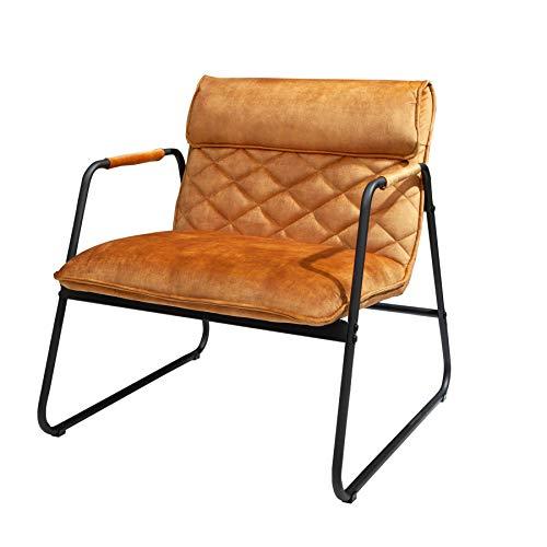 Invicta Interior Retro Lounge Sessel Mustang Lounger senfgelb mit Ziersteppung Stuhl Besucherstuhl