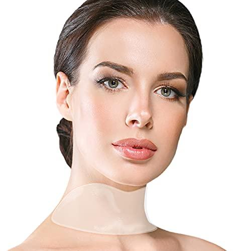 Anti-Falten Silikon Hals Pad / Neck Pad - Set bestehend aus 2 Halsfalten Pads Wiederverwendbar für einen Faltenfreieren strafferen Hals