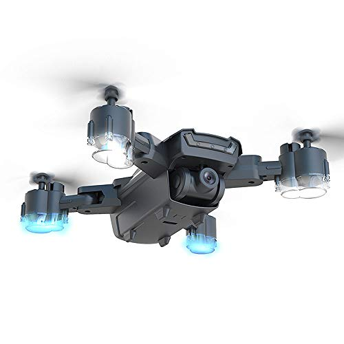 Masrin Neue H3 GPS Drohne 4K HD Dual Kamera 5G WiFi FPV Drohne RC Quadcopter Follow Me (Schwarz)