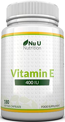 Vitamin E 400 IU, 180 Softgels 6 Month Supply, Vitamin E Capsules, Natural...