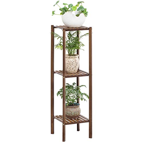 Bamboo Utility 3 Tier Plant Stand Rack Multiple Flower Pot Holder Shelf Indoor Outdoor Planter Display Shelving Unit for Patio Garden
