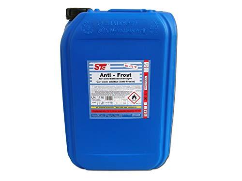 STC Waschanlagenzusatz Winter Konzentrat Scheibenreiniger Antifrost bis - 70°C inkl. Klarsicht Konzentrat Scheibenfrostschutz, Gefrierschutzmittel Auto (25 L Kanne)