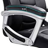 SONGMICS Ergonomischer Bürostuhl, höhenverstellbarer Drehstuhl, robust, stabil und langlebig, schwarz, OBG21B - 7