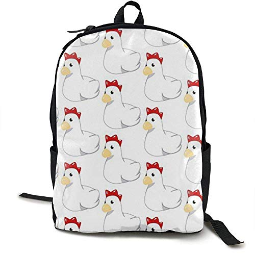 Laptop Rucksack Chicken Cuckoo Computer Tasche College School Rucksack Frauen Männer