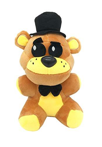 FNAF Plushies - Full Characters - (Golden Freddy)- (8') -in Stock US- Five Nights Freddy's Plush: Chica, Springtrap, Bonnie, Marionette, Foxy Plush - Freddy Plush-FNAF Plush-Kid's Toy-Stuffed Animal