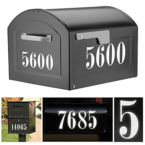 Reflective Mailbox Numbers Sticker Decal Die Cut Roman Style Vinyl Waterproof Number Self Adhesive 5 Sets (3
