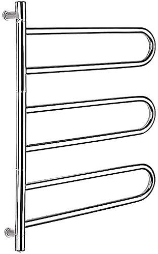 De arco eléctrico calentador de toallas 180 ° espejo eléctrico giratorio pulido toallero de acero inoxidable,A