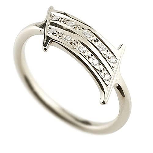 [アトラス]Atrus リング メンズ 18金 ホワイトゴールドk18 キュービックジルコニア ナンバー1 指輪 数字 ストレート 19号