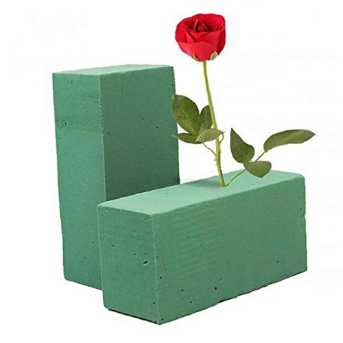 2pcs Flower Oasis Floral Foam Brick Flower Holder Florist Blocks Dry Blocks Oasis for Flower Wedding Florist Fresh Flower Arranging Design Diy Crafts Supplies