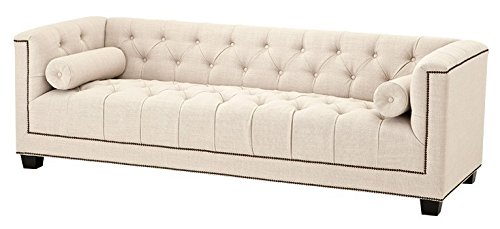 Casa Padrino Luxury Sofa Kubus Panama Cream - 3 Seater - Hotel Facilities