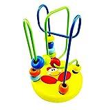 SimpleLife de Madera para niños Marco de Bolas montaña Rusa Laberinto Juguete Educativo Juguetes Colores Brillantes Mano de los Ojos de los niños Regalo de formación