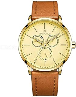 Naviforce Casual Watch For Unisex Analog Genuine Leather - NF 3001