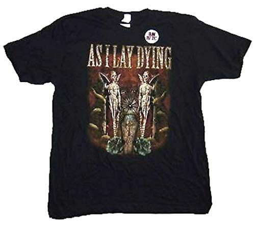 UUC As I Lay Dying Coffin Twin Angels Mens Black T Shirt