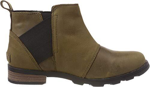 Sorel - Women's Emelie Chelsea Waterproof Ankle Boots, Major, Black, 9 M US