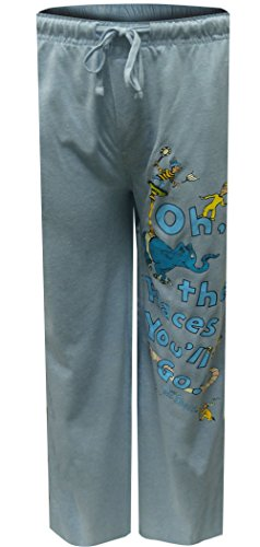 Dr. Seuss Oh The Places You'll Go Lounge Pants for men (Large)