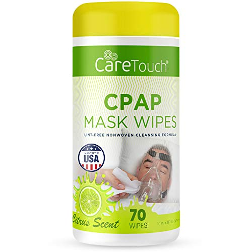 Care Touch CPAP Mask Cleaning Wipes - Scented   70 Scented Cleaning Wipes for CPAP Masks   Made in The USA
