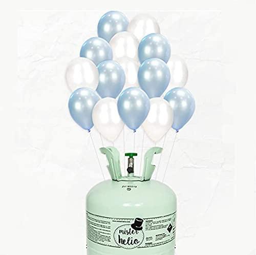 Bombona de Helio Mr. Helio+ Globos látex Azul y Perla