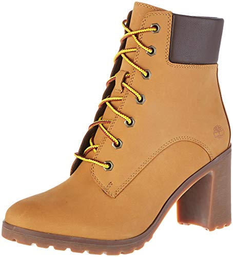 Timberland Allington 6 inch Lace Up, Stivali Donna, Giallo (Wheat Nubuck), 39.5 EU