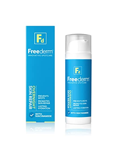 FREEDERM Overnight Skin Repair for Spot Prone Skin, Visibly Reduces Spots and Redness, With Niacinamide, Clear, 50 ml
