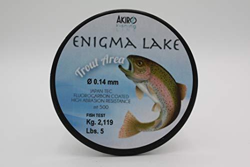 Akiro Enigma Lake, Filo da Pesca Unisex – Adulto, Trasparente, 0.14 mm