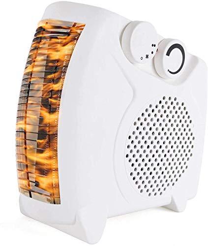 LFDHSF Chimenea eléctrica, Calentador de Ventilador eléctrico 2000W Mini Calentador de Ventilador portátil de Baja energía de pie Independiente para el hogar Cama Cama Escritorio Carpas Refrigerador