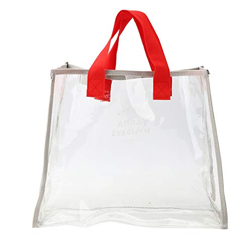 Boumcat Trasparente Sacchetto Cosmetico Borsa Addensato Sacchetto di Lavaggio Sacchetto Portatile Sacchetto Cosmetico Del PVC Adatto per Le Vacanze E Viaggi Alla Moda E Pratico Sacchetto