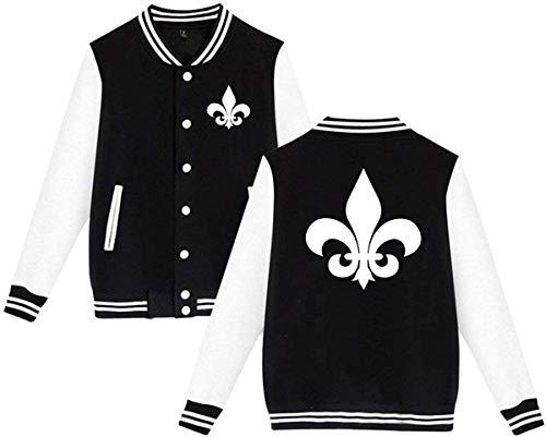 EYSKJ Unisex College-Jacke,Kapuzenpullover Fleur De Lis Mens & Womens Funny Hoodie Baseball Uniform Jacket Sport Coat