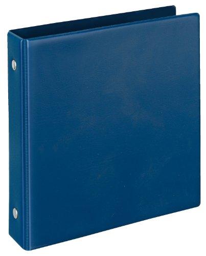 Veloflex 4167050 Karteikartenordner A6, Ringbuch, Ordner, mit Innentasche, PVC, 150 x 160 x 30 mm, blau