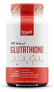 Glutathione Supplement - Strongest DNA Verified Glutathione Reduced - Vegan Friendly Non GMO Gluten & Soy Free