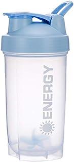 Vasos Mezcladores de Suplementos para Deportistas Taza Batidora de Proteínas Suplementos Deportivos Agitadores con bola Batido de fitness Taza de agua de Entrenamiento Portátil 500 ml