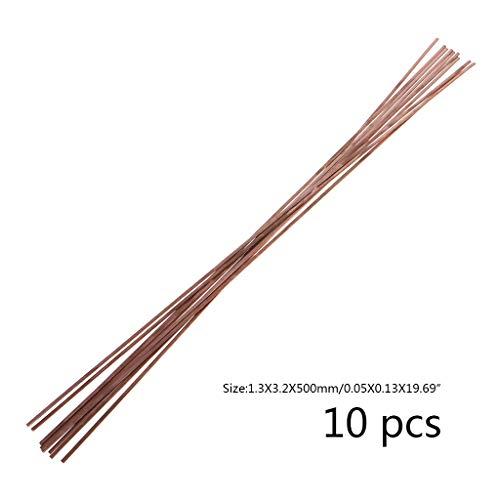 BIlinli 10 stücke 1,2X3,2X500mm Flache Silberelektrode Niedertemperatur Phosphor Kupfer Schweißstäbe HL201 Selffluxing Löten Legierung Löten und Löten
