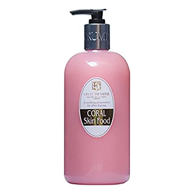 Geo F Trumper Coral Skin Food Pre and Post Shave Gel Large 500ml Bottle with Pump Dispenser