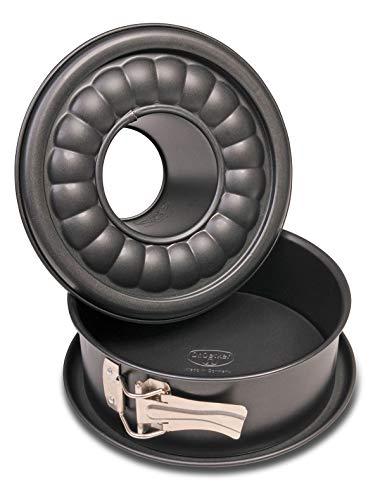 Dr. Oetker Molde Desmontable 2 Fondos 18Cm, Aluminio, Negro, 18 cm