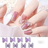 3D resina mariposa brillo uñas arte decoraciones verano hogar moda esmalte de uñas ornamento manicura calcomanías Accesorios CH1860-8pcs-03