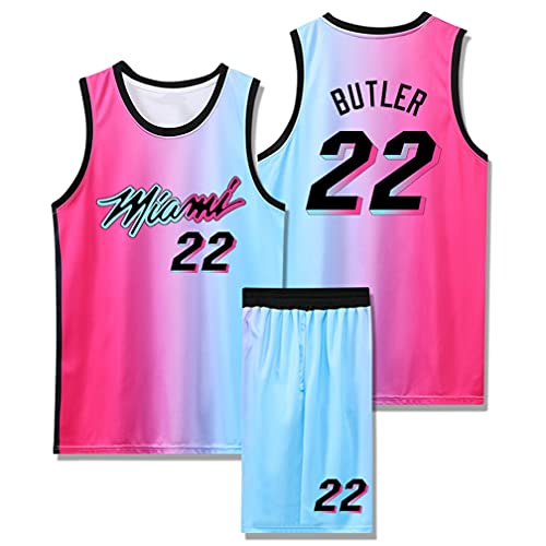 Men & Ladies Jersey - Miami Heat 22# bŭtlĕŗ retro transpirable bordado...