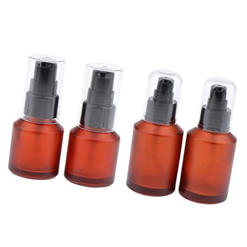 Fenteer 6pcs Flacon Vaporisateur Vide Parfum Atomiseur Verre de Parfums Vaporisateur à Brouillard Pulverisateur vide pour Voyage - 60ml / 15ml