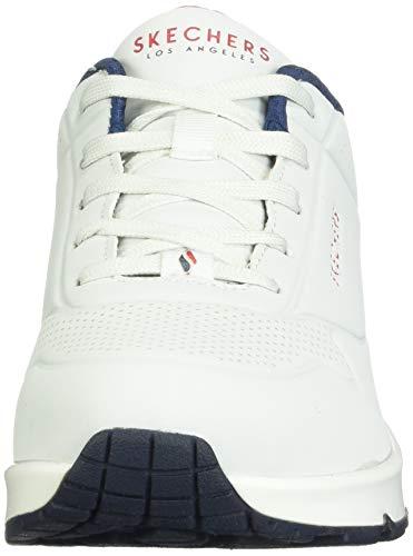 Skechers Uno- Stand On Air, Zapatillas, Multicolor (Wht Black Durabuck), 36 EU