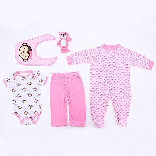 TEABITHIA 13 Adapta a 45-50 cm muñecas recién Nacidas Vestido Reborn Baby Doll Toda la Ropa de algodón