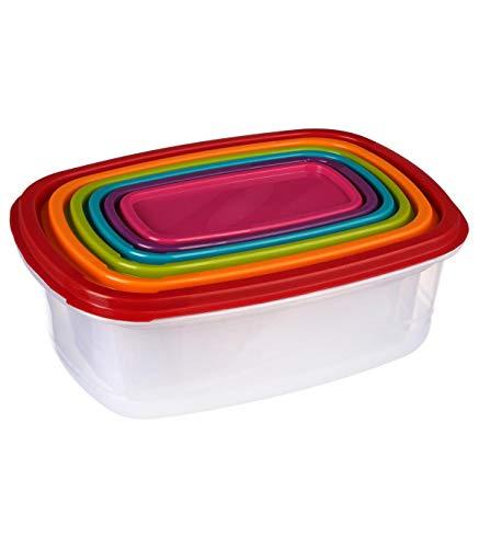 Secret de gourmet Lot de 6 grandes boites alimentaires rectangles
