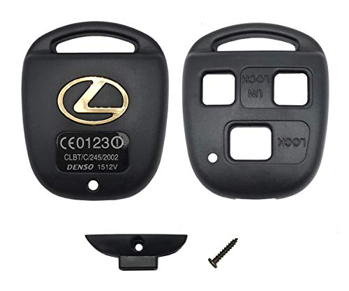 Replacement Key Fob Shell Case Fit for Lexus Keyless Entry Remote Car Key Fob Cover Housing Casing with Screwdriver (3 Buttons)