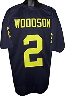 Autographed Charles Woodson Jersey - unsigned Navy TB Custom XL - Autographed College Jerseys