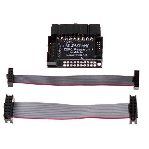Rongzou Tool Adapter Board für 20P 2,54 mm JTAG auf 10P 2,0 mm 1,27 mm SWD-Schnittstellenkonverter