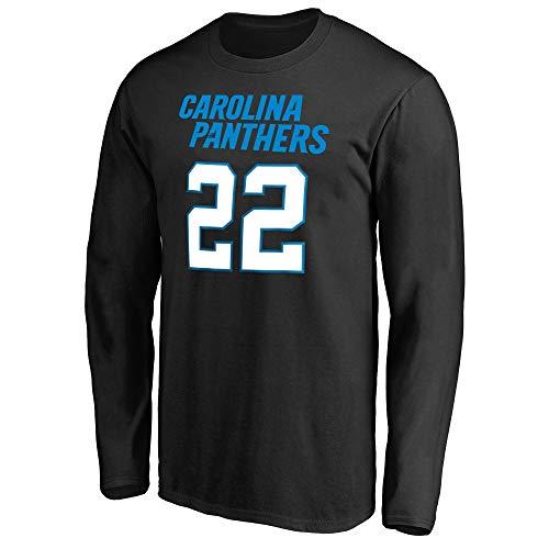 NFL Youth Team Color Mainliner Player Name and Number Long Sleeve Jersey T-Shirt (Medium 10/12, Christian McCaffrey Carolina Panthers Black)
