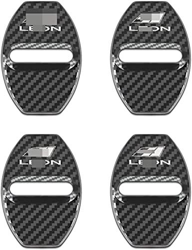 4 Unids Cubierta de la Cerradura de la Puerta del AutomóVil, para Seat Leon Dekoratives Zubehör Acero Inoxidable Car Styling Proteccion Accesorios Cubierta Antioxidante