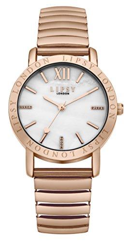 Lipsy Damen-Armbanduhr Analog Quarz SLP001RGM