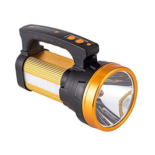 ASDSDF Luz de Camping LED portátil, antorcha Recargable USB, luz de antorcha Impermeable, multifunción, para búsqueda al Aire Libre, Emergencia, Senderismo, Pesca, Cortes d