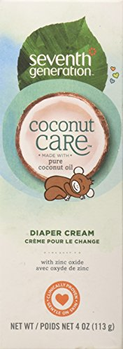 Seventh Generation Baby Diaper Cream with Soothing Coconut Care Tube,...