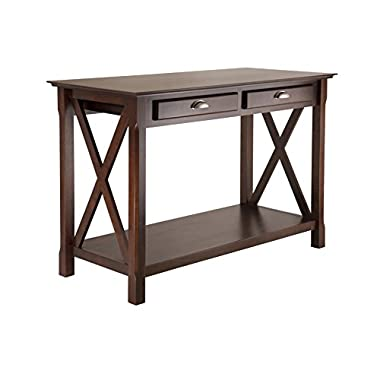 Winsome Wood Xola Console Table, Cappuccino Finish