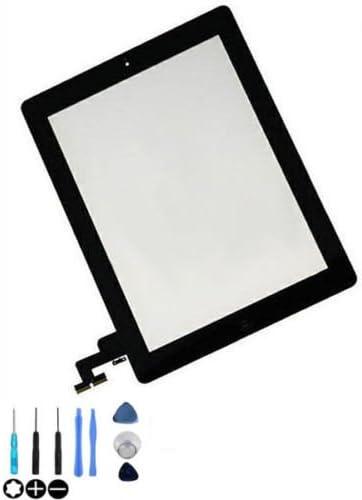 remplacement d'écran tactile pour iPad 2 inclus : Vitre de rechange; Ruban adhésif autocollant; Bouton home; suport c...