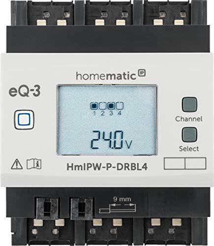 Homematic IP Wired 4-Fach-Jalousie-/Rollladenaktor HmIPW-P-DRBL4